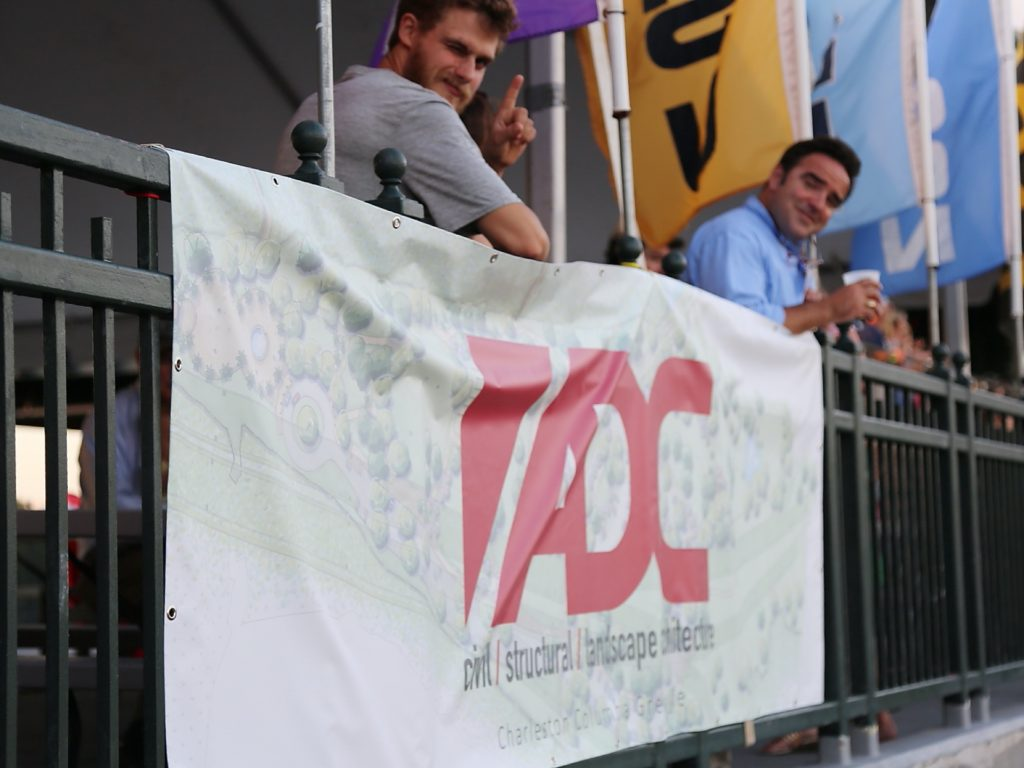 adc engineering team hanging banner