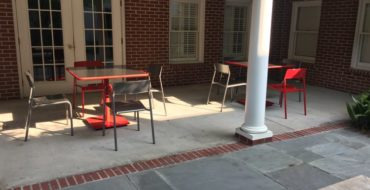 New patio furniture in the courtyard!
