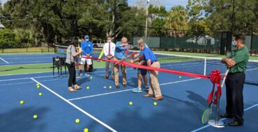 Renovation of Mt. Pleasant's Julian Weston Tennis Courts is complete